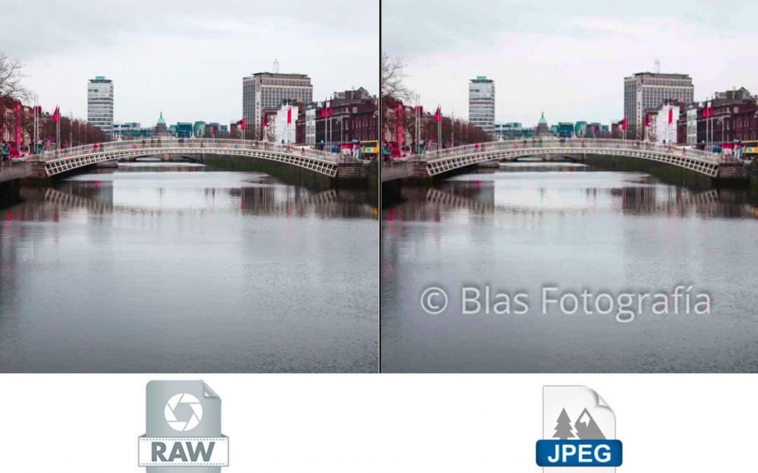 Formatos de imagen JPEG y RAW
