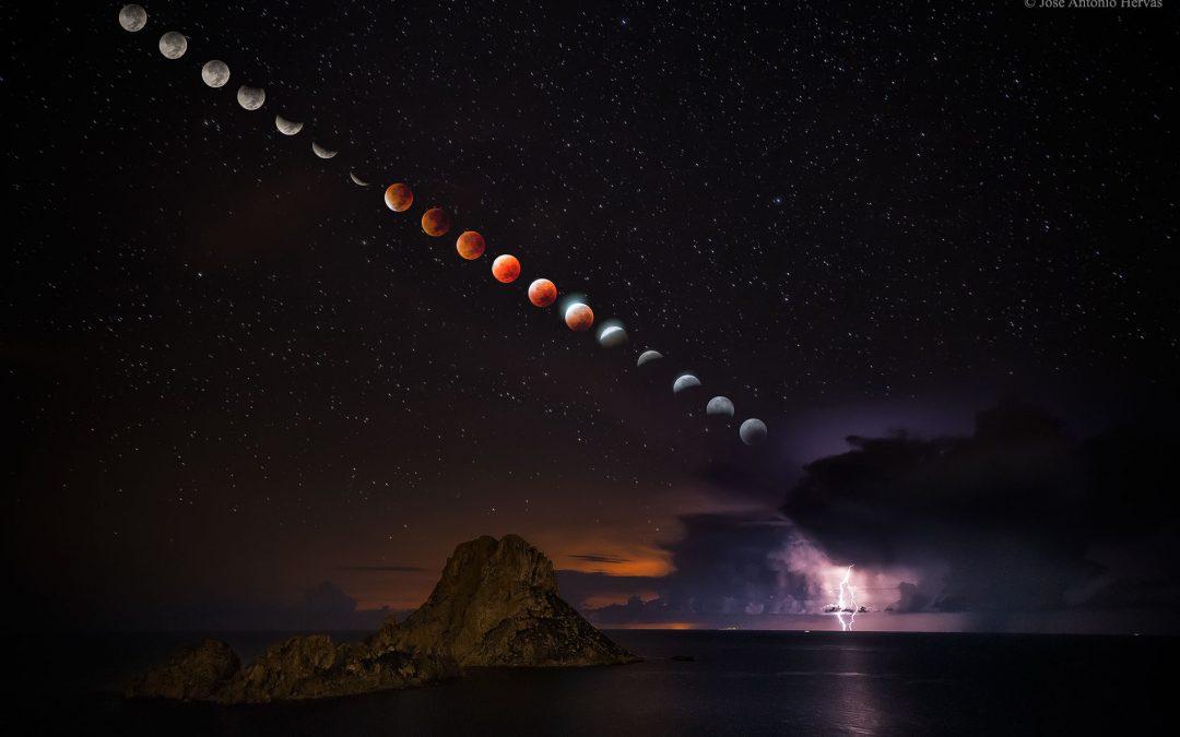 Imagen del eclipse de superluna