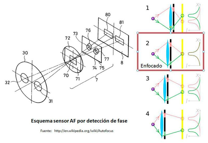 Diagrama AF: detección de fase