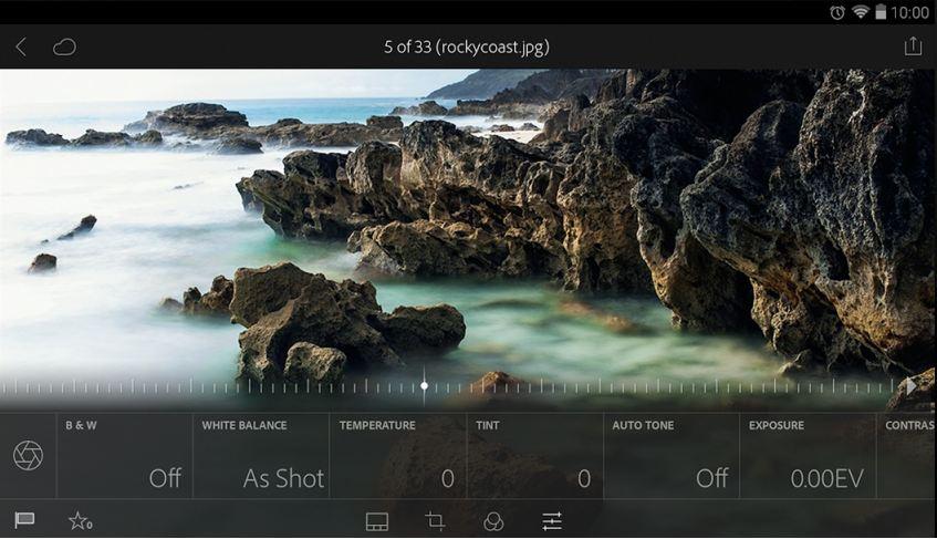 Adobe Lightroom 1.4 para Android