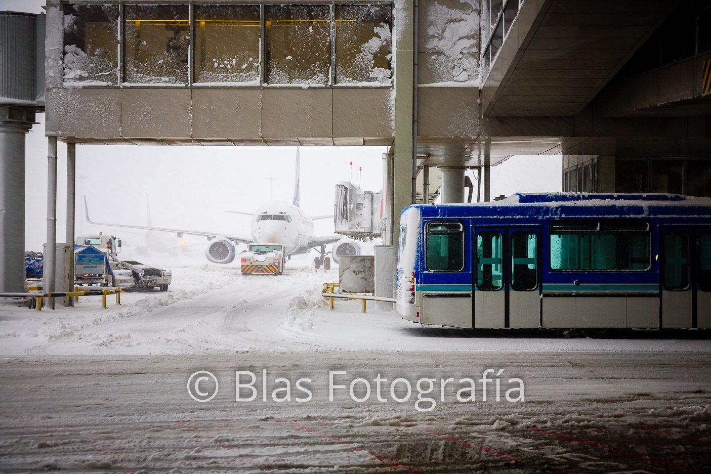 Aeropuerto de Estambul nevado