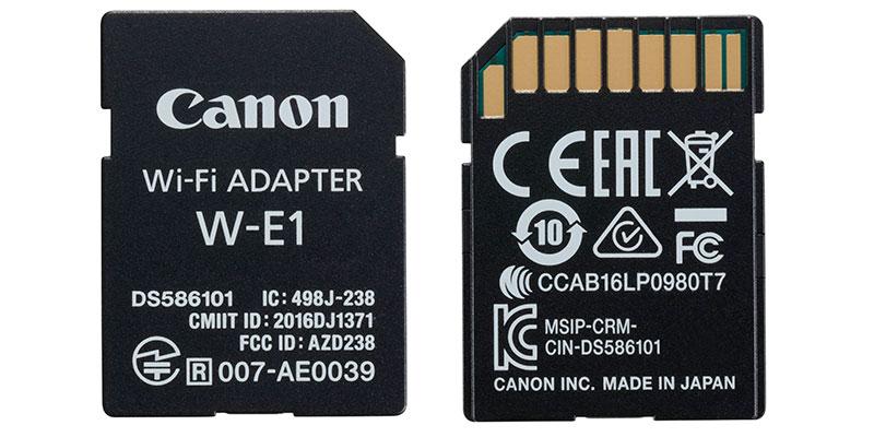 Adaptador Wi-Fi Canon W-E1