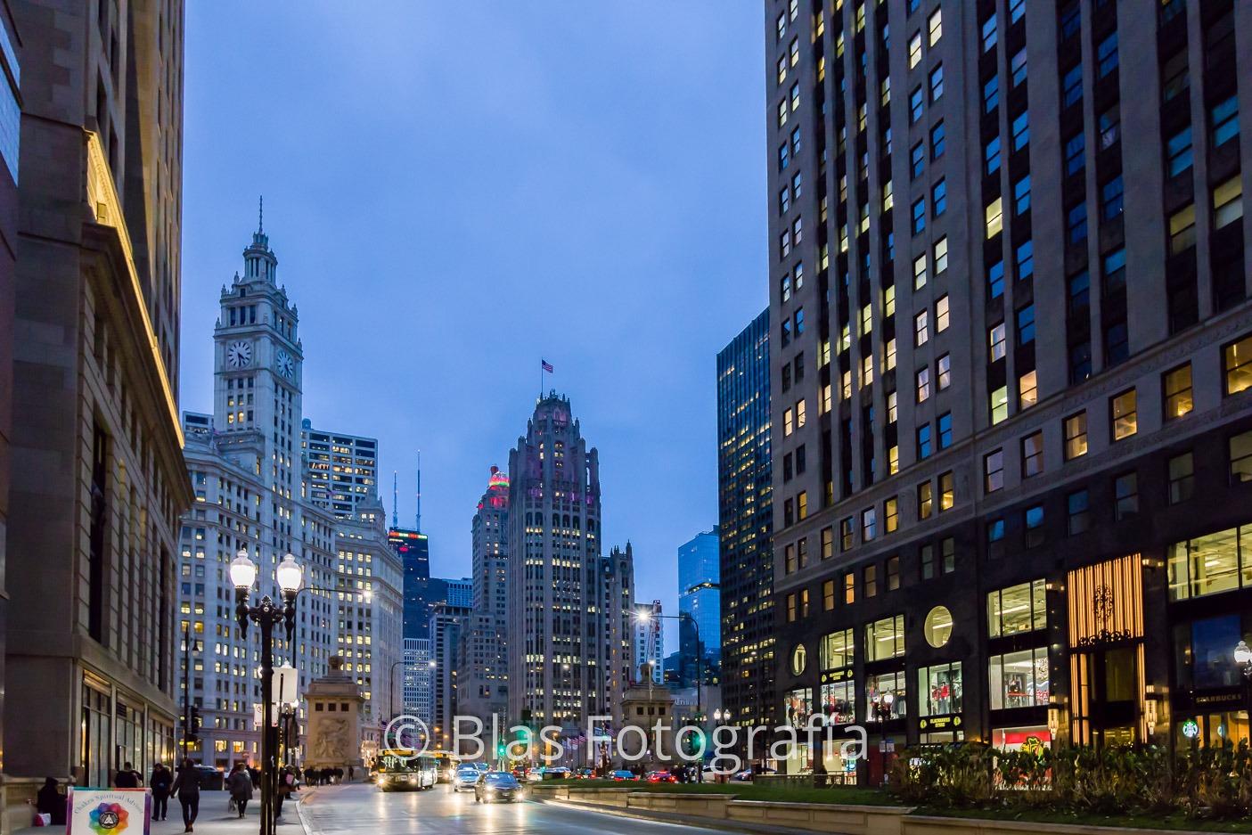 Anochecer en Chicago