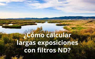 Cálculo de los largos tiempos de exposición con filtros ND