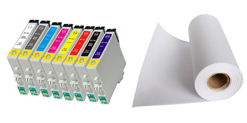 Tinta y papel para impresoras fotográficas