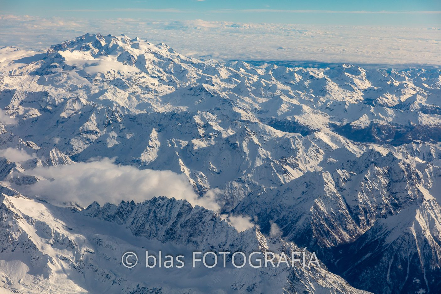 Mont Blanc desde el aire